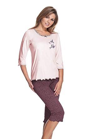 tolle sorten moderate Kosten 60% Freigabe e.FEMME Damen Schlafanzug Celine 259 aus Baumwolle und Modal