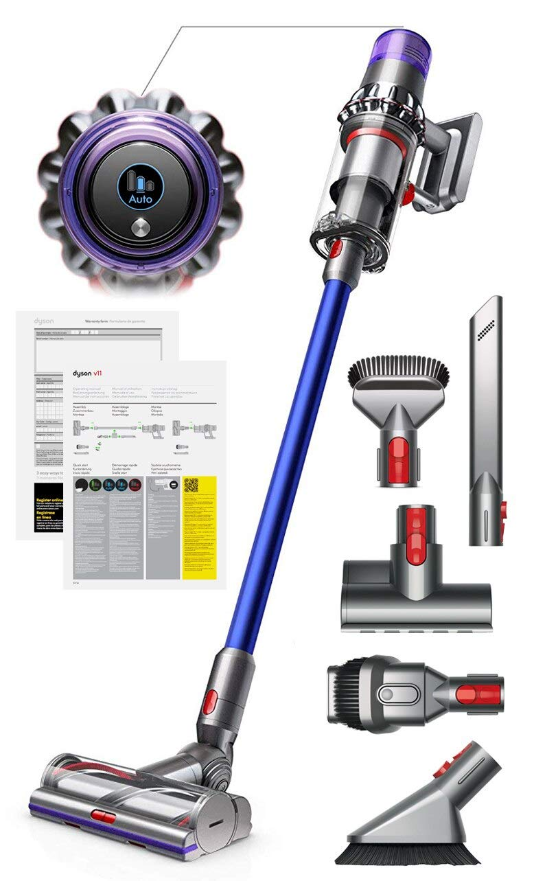 Dyson V11 Torque Drive Handheld Portable Stick Vacuum Cleaner with Manufacturer s Warranty – Includes Mini Motorized Tool Combination Tool Crevice Tool Soft Dusting Brush and Stiff Bristle Brush