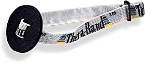 TheraBand Resistance Band Handles, Soft Handles Pair, Accessories for Elastic Resistance Bands & Tubes, Exercise Equipment for Home Gym, Overhead Strength Training, Stretching, Use with Door Anchor