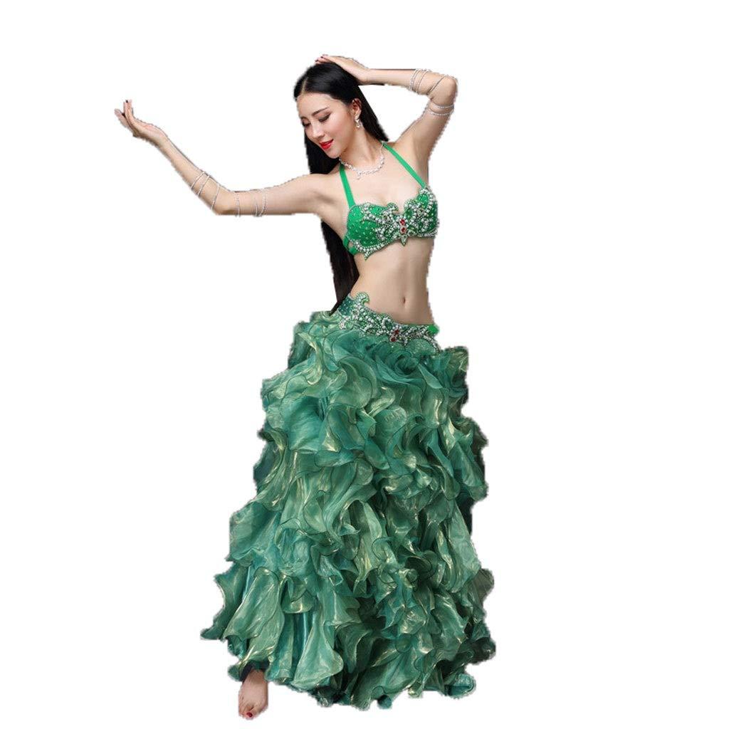最新 ベリーダンス衣装女性大人のダイヤモンドショーセット高スプリットウェーブビッグスイングスカート衣装 B07PJZ6LYR B07PJZ6LYR M|グリーン グリーン グリーン M M, ブランドハット:54676e8f --- a0267596.xsph.ru