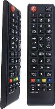 Mando a distancia de repuesto para Samsung TV AA59-00741A para Samsung LCD LED Smart TVs BN59-01175N AA59-00786A AA59-00602A BN59-01247A, no requiere instalación: Amazon.es: Electrónica