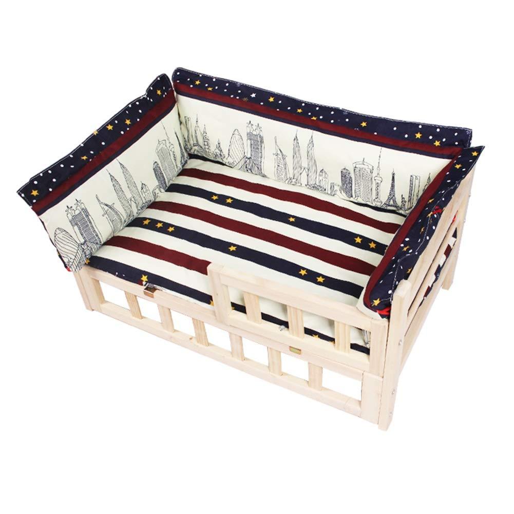 GNAWOX 猫と犬のペットベッド、洗えるパッド、純木質ファイバーボード用ペットベッド、大型中型犬用ベッド (サイズ さいず : 56x39x40cm) B07PNH94PF  80x50x40cm 80x50x40cm