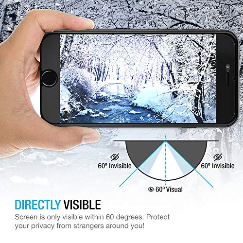 iPhone 8 Plus /7 Plus Protector de pantalla, Maxboost [Privacy Black, Paquete de 2] iPhone 8 Plus Protector de pantalla de privacidad Anti-Spy Tempered Glass Screen Premium Anti-Scratch /Fingerprint, fácil instalación