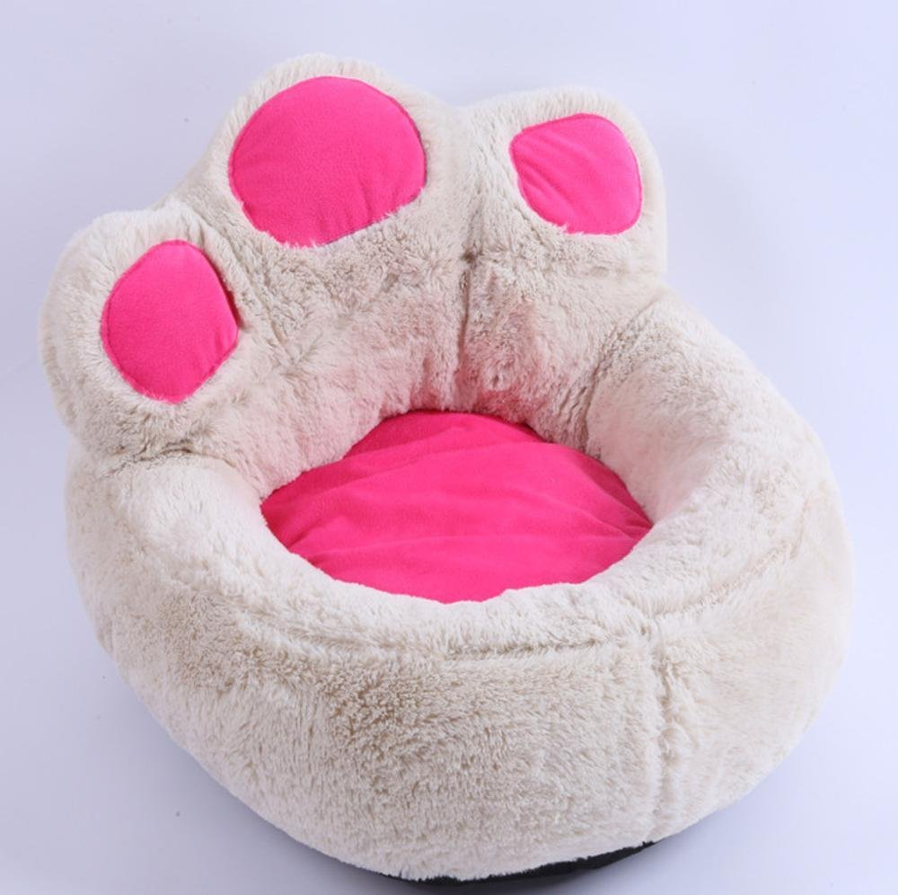 D Large D Large Weiwei Cute Foot Meng Pet Kennel can be Washable Short Plush pet nest Outdoor Fashion Dog Supplies