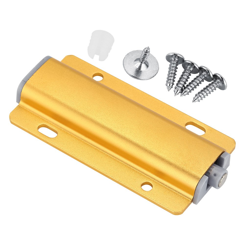 Yosooo Cabinet Door Drawer Damper Buffer Push To Open System Latch with Magnetic Tip 5 Pcs(Gold) by Yosooo (Image #9)