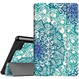 Fintie Slim Case for All-New Amazon Fire 7 Tablet (7th Generation, 2017 Release), Ultra Lightweight Slim Shell Standing Cover with Auto Wake/Sleep, Emerald Illusions