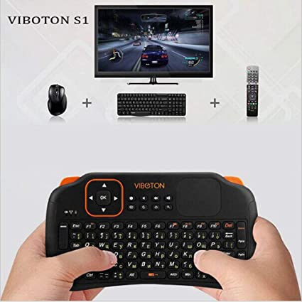 8df12bc41ce Generic Viboton S1 English Russian 3-in-1 2.4GHz Wireless gaming Keyboard +  Air Mouse + Remote Control with Touchpad for Windows Linux: Amazon.in: Home  ...