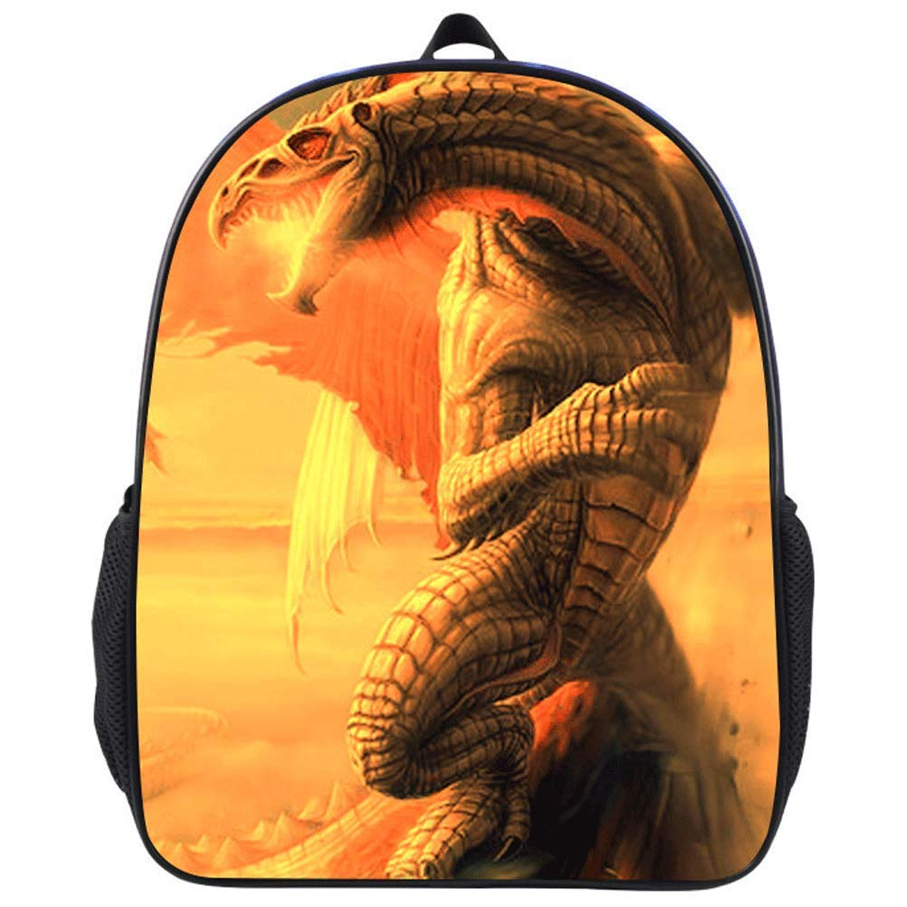 Yellow Dinosa 3Dg&G 00370 3D Backpack Daypack Backpack Bags Backpack Rucksack Back Pack Pack Bag Knapsack Casual School Bag Rucksack Kids Backpacks Waterproof Nylon