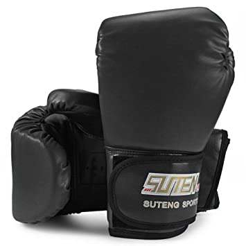 CHYIR - 1 par de Guantes de Boxeo de Espuma Suave de Poliuretano para Entrenamiento de Artes Marciales Mixtas (MMA), Large, Negro: Amazon.es: Deportes y ...