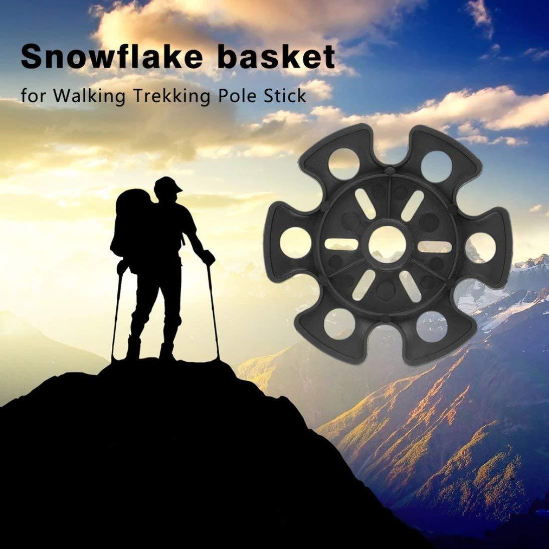 WEIHAN Ligera Punta de Goma Extremo con Tapa Martillo Cesta de Copo de Nieve para Bastones de Bastones de Trekking para Caminar con la mayor/ía de los Bastones de Trekking Generales