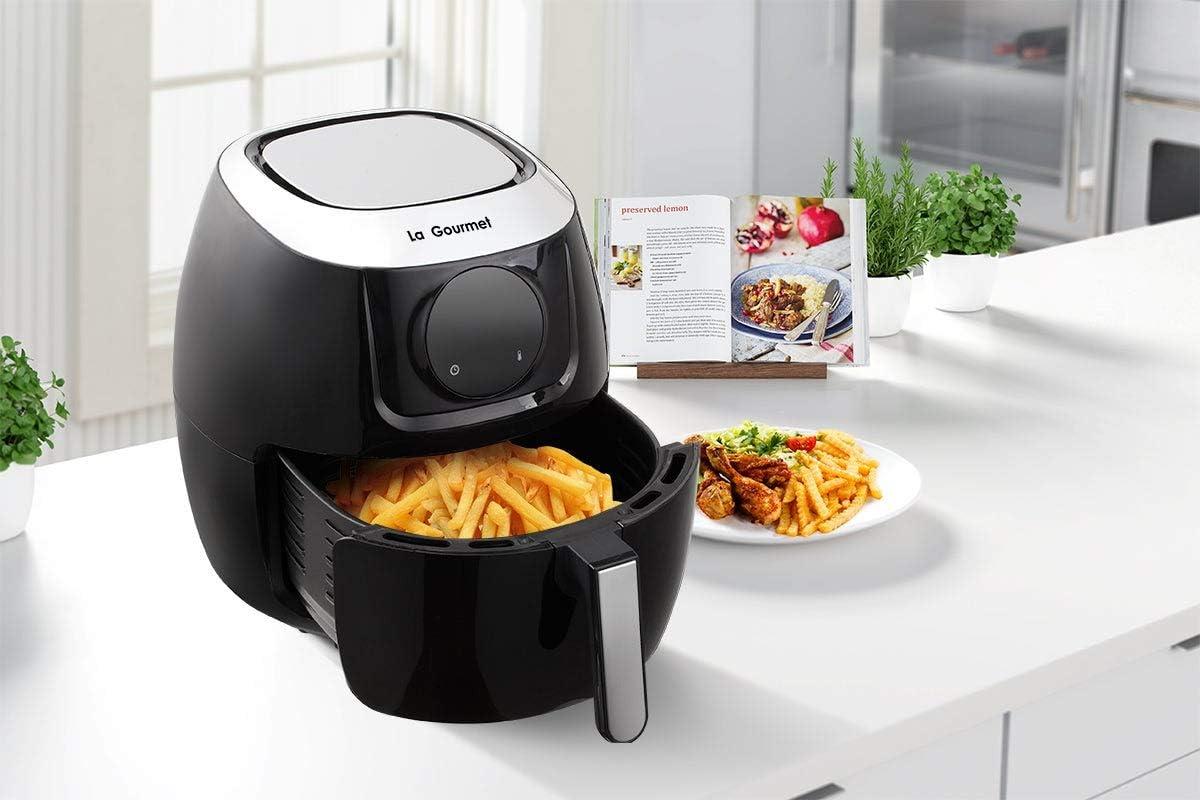 LA Gourmet 7.2-Qt. Digital Air Fryer and Convection Oven, Charcoal