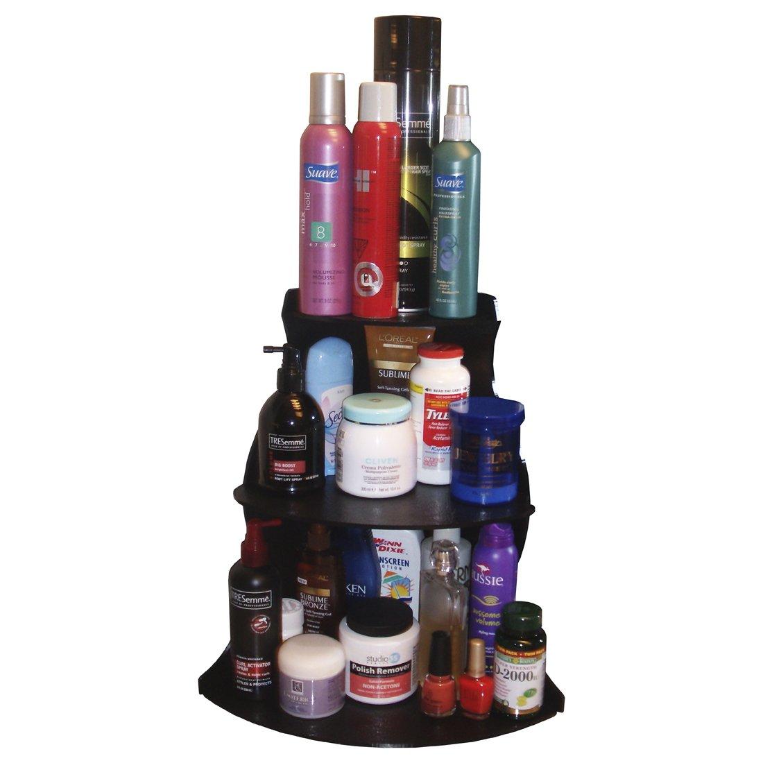 Amazon Com Corner Shelf Cosmetic Organizer High Refillable