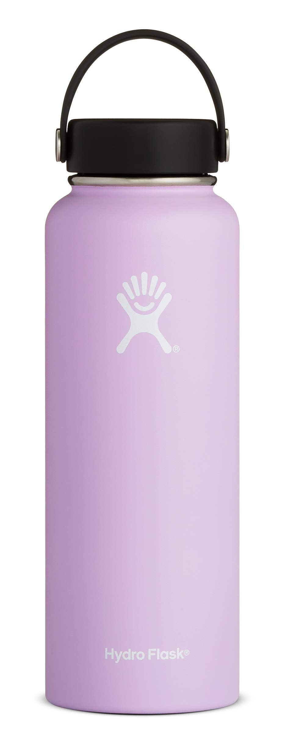 Hydro Flask 40 oz Double Wall Vacuum Insulated Stainless Steel Leak Proof Sports Water Bottle, Wide Mouth with BPA Free Flex Cap, Lilac