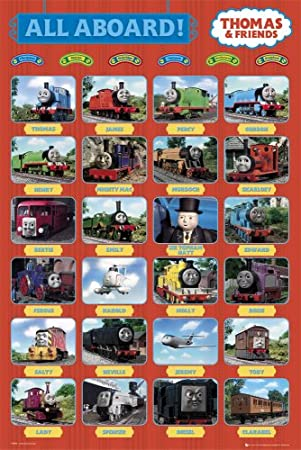 GB Eye Ltd Thomas And Friends All Aboard Maxi Poster 61x915cm FP2005 Amazoncouk Kitchen Home