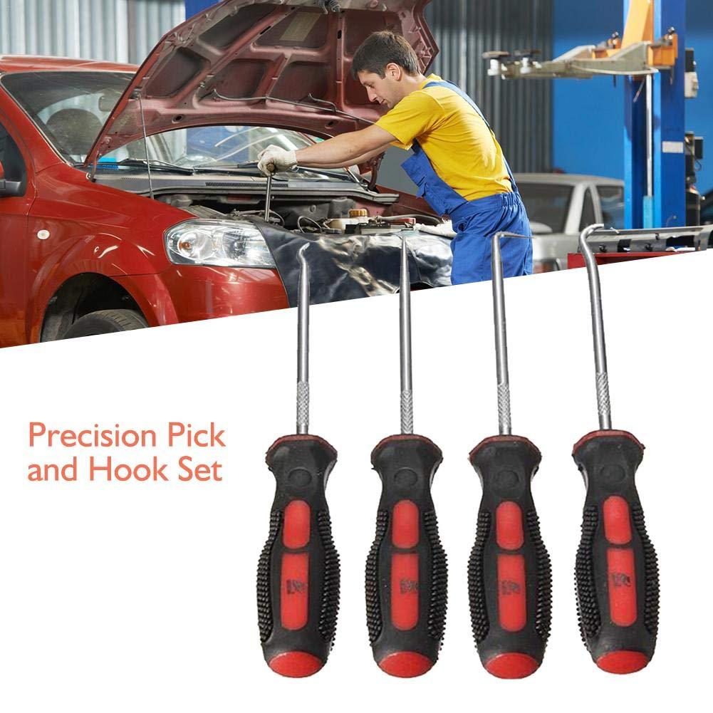 4 in 1 Oil Seal Screwdriver Rubber Ring Car Auto Repair Maintenance Hardware Tools Mini Hook Set Hook Group Precision Pick and Hook Set