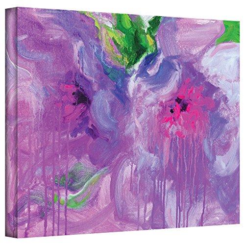 ArtWall Svetlana Novikova's Purple Pink Flowers Gallery-Wrapped Canvas Wall Art, 24 by 32-Inch