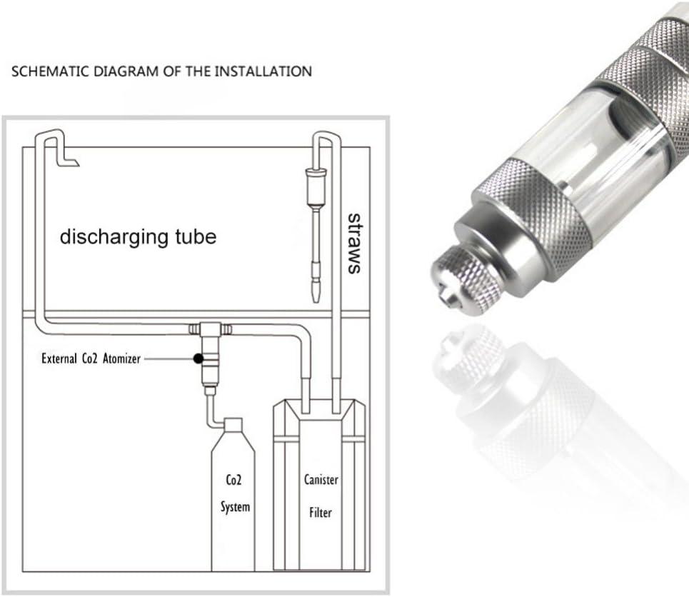 Gaoominy Kit Generador De Reactor Regulador De Atomizador De Dioxido De Carbono del Tanque del Acuario del Difusor De Co2 del Difusor De Co2 De 16 Mm.