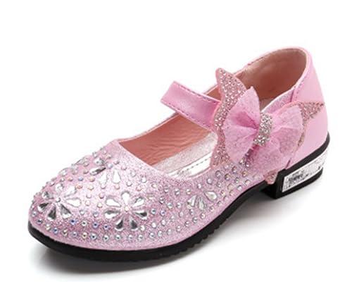 nueva llegada c4b62 62355 YOGLY Zapatos para Niñas Princesa Zapatos Tacones Baile Zapatos de  Diamantes de Imitación de Niña