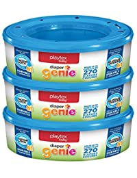 Playtex Diaper Genie Refills for Diaper Genie Diaper Pails - 270 Count (Pack of 3) BOBEBE Online Baby Store From New York to Miami and Los Angeles