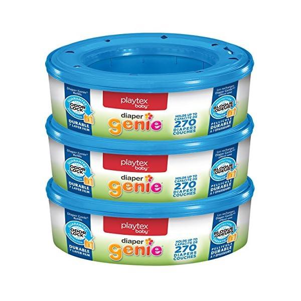 Playtex Diaper Genie Refill Bags, Ideal for Diaper Genie Diaper Pails, 3 Pack, 810...