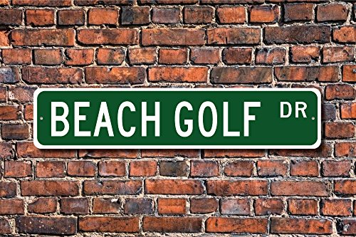 Beach Ball Yard Sign - Teisyouhu Funny Metal Signs Beach Golf Sign Golf Played On Sand With Foam Ball Golf Lover Garage Home Yard Fence Driveway Street Decor
