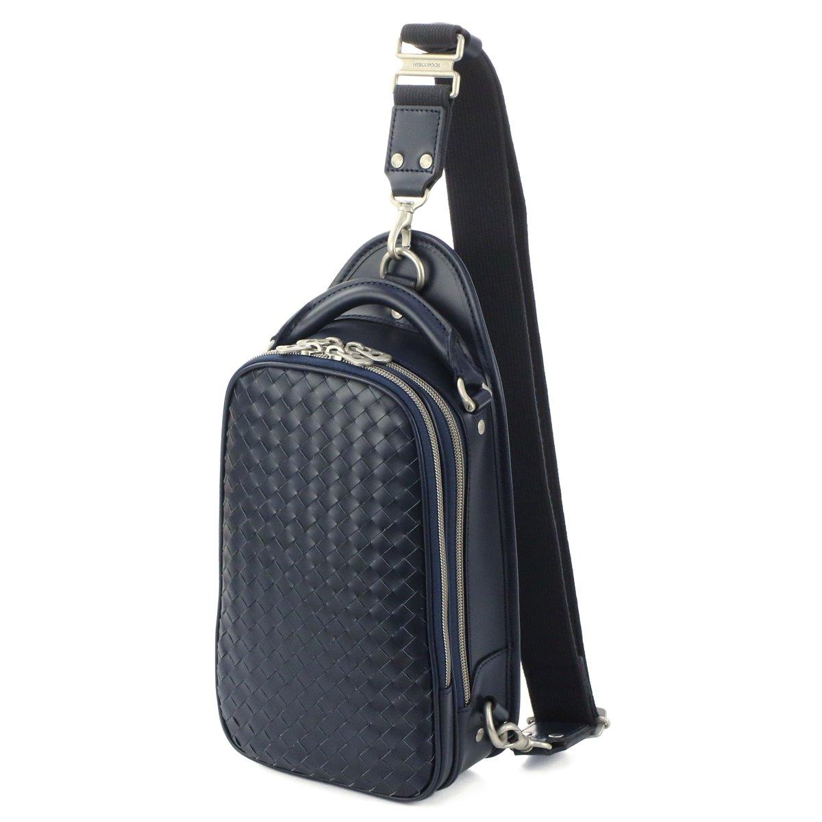 [エルゴポック] ワンショルダーバッグ 本革 06 ワキシングレザー 06I-OS メンズ B07CPYCWRF ミッドナイトブルー ミッドナイトブルー