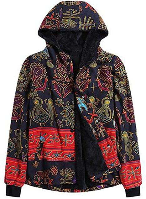 VEMOW zima jesień kobiety plus rozmiar ciepła kurtka zimowa kurtka kurtka płaszcz kurtka z kapturem długi rękaw z futrzanym kapturem Vintage Casual pikowana kurtka zimowa: Odzież