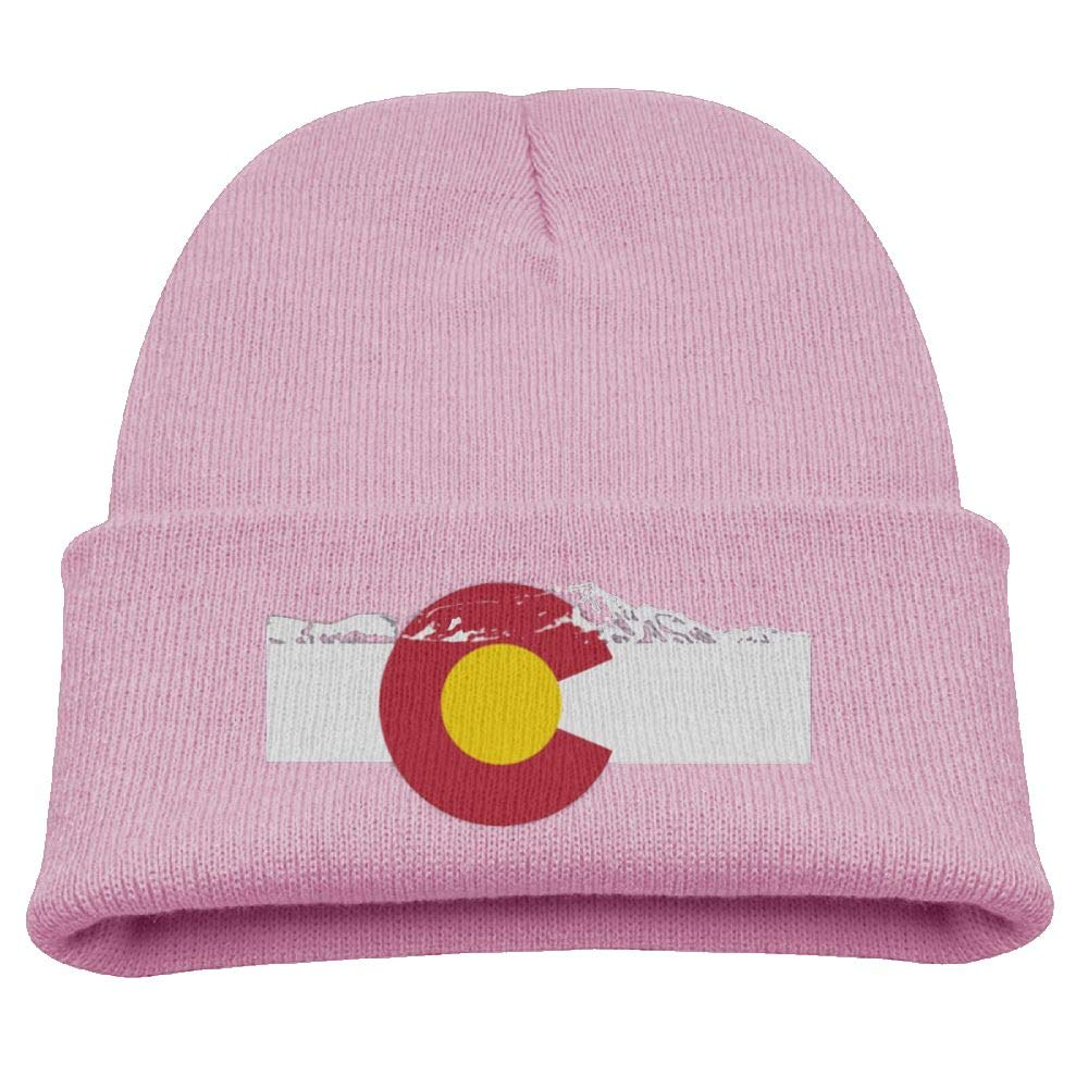 0985346a12f Amazon.com  Rocky Mountains Colorado Flag Beanie Caps Knit Hat Winter Warm  Toddler  Clothing