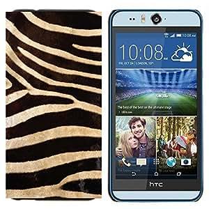 TECHCASE---Cubierta de la caja de protección para la piel dura ** HTC Desire Eye ( M910x ) ** --Modelo de la cebra Wallpaper Diseño Textil