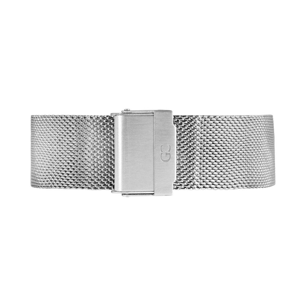 Gelfand & Co. Quick Release Interchangeable Watch Strap Mesh 20mm Silver