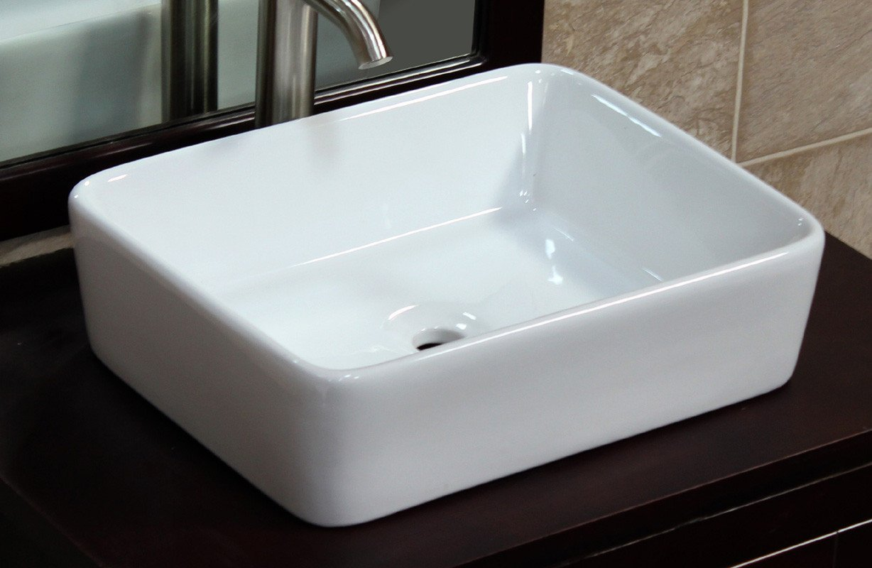 Bathroom Ceramic Porcelain Vessel Sink 7050 Pop Up Drain + free Pop Up Drain by ELIMAX'S