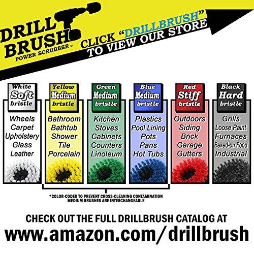 Outdoor - Deck Brush - Remove Algae, Mold, Mildew, and Moss - Scrub Brush - Concrete - Garden Statues - Bird Bath - Spin Brush - Outdoor Water Fountain - Granite Cleaner - Headstones - Drill Brush
