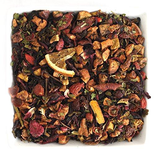 Tealyra - Yuzu Berry - Hibiscus - Goji - Orange - Raspberry - Fruity Herbal Loose Leaf Tea - Caffeine free - Hot or Iced - 112g (4-ounce) - Yuzu Leaf