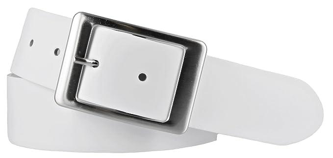 a83d6bfecd3f Vanzetti Damen Leder Gürtel Belt Ledergürtel Damengürtel weiss 40 mm (85 cm)