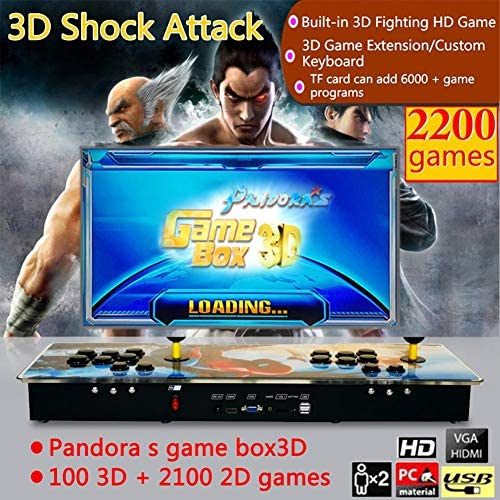 Funihut Pandora Box 2200 en 1 Consola de Videojuegos Pandora Box 3D 100 3D + 2100 Spiderman Style Home Retro TV Fighter: Amazon.es: Electrónica