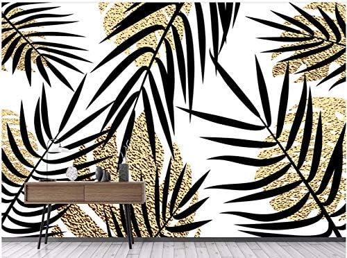 Papier Peint 3D Vintage Banane De La For/êt Tropicale Humide Dor/é Dessin/é /À La Main Moderne Intiss/é D/écoration Murale