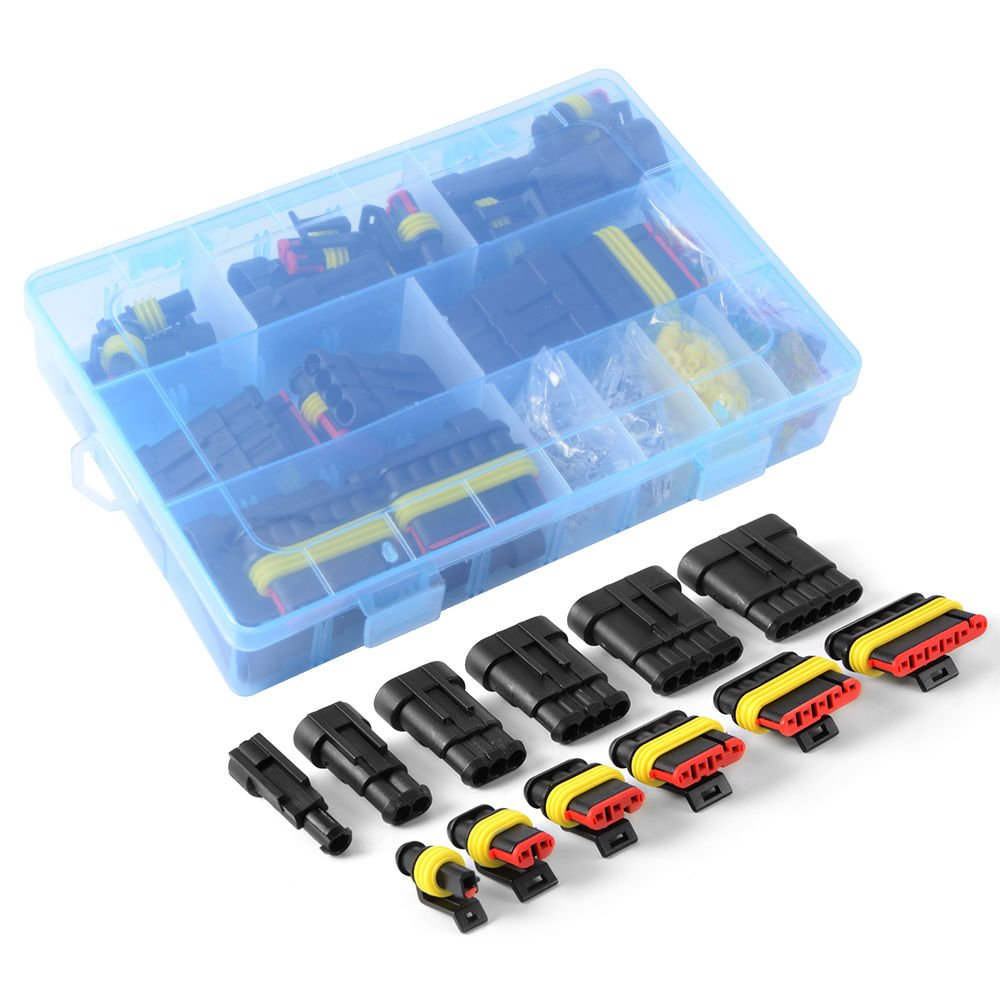 240PCS WINGONEER Car Waterproof Electrical Connector Terminal 1//2//3//4//5//6 Pin Way+Fuses