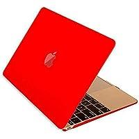 Microcase Macbook Pro 15 A1990 Touch Bar 2018 Shell Rubber Kapak Kılıf - Kırmızı