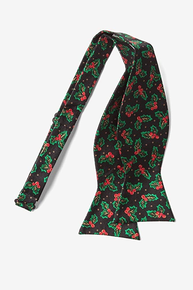 Black Silk Bow Tie Holly Self Tie Bow Tie