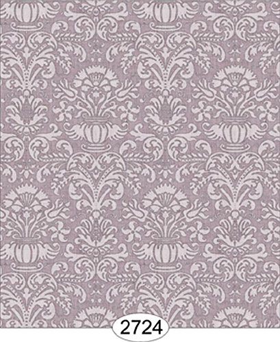 Amazon Com Dollhouse Wallpaper 1 12 Annabelle Mini Damask Purple