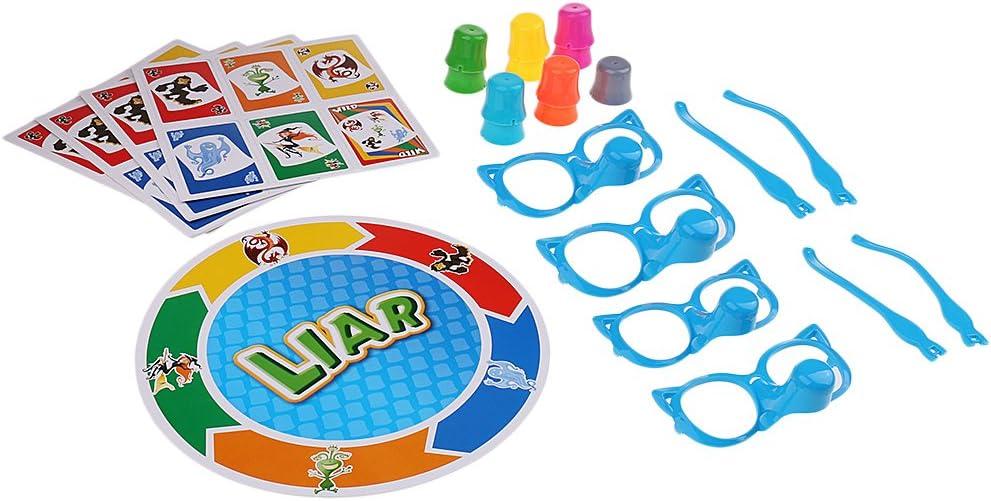 KESOTO Estirar el Juego de Mesa de la Verdad mentiroso Bluffing niños familias Partido Divertido Juguete: Amazon.es: Juguetes y juegos