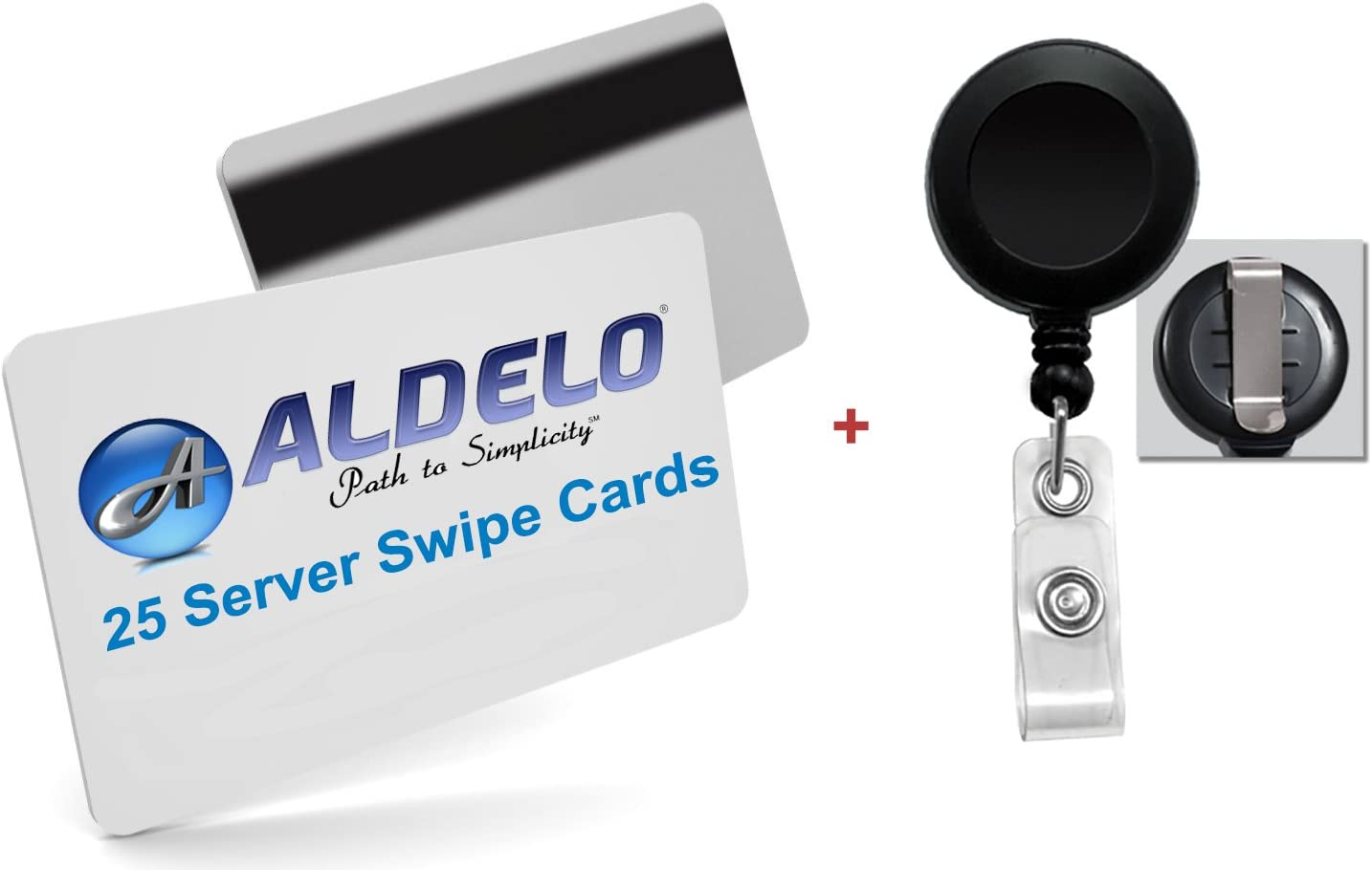Aldelo POS Server Swipe Cards 25 Pack 25 Card Holder Reels