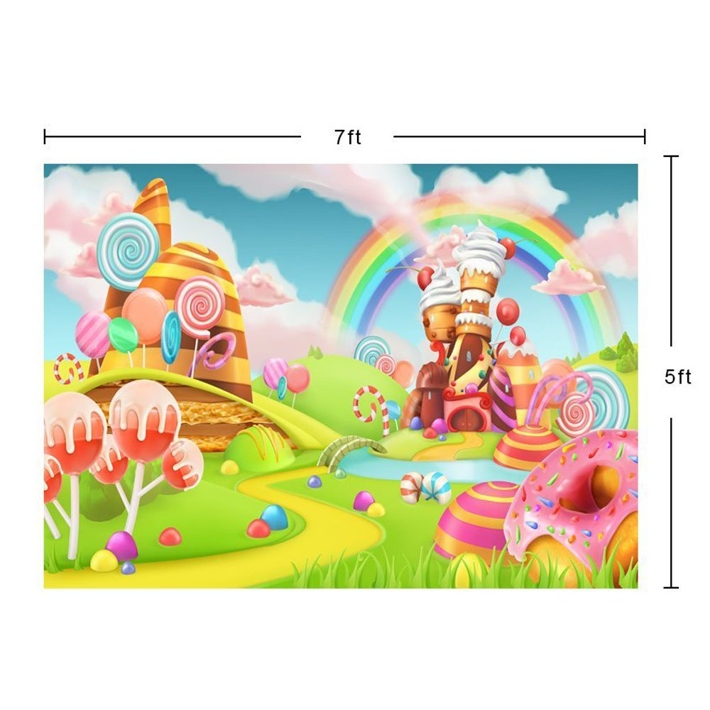 Christmas Candyland Backdrop.Photo Background Candyland Backdrop Props Vinly Backdrops For Photography Birthday Party Studio Video Sweet Rainbow Candy 7x5ft