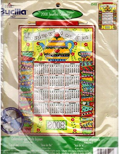 Bucilla Cup of Tea 2008 Jeweled Felt Calendar Kit-16