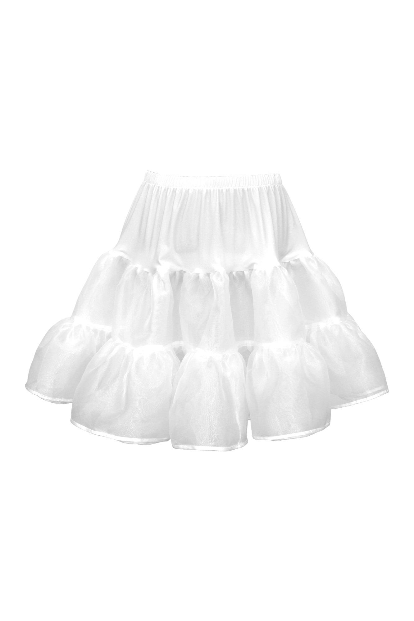 BlackButterfly Kids Organza Petticoat Skirt (White, 9-10 yrs)