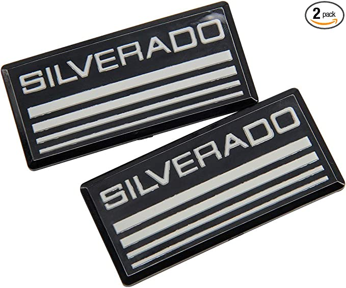 Black Red White 1Pc Cheyenne Roof Pillar Cab Emblem Badge Nameplate Side Replacement For 88-98 Chevy Silverado