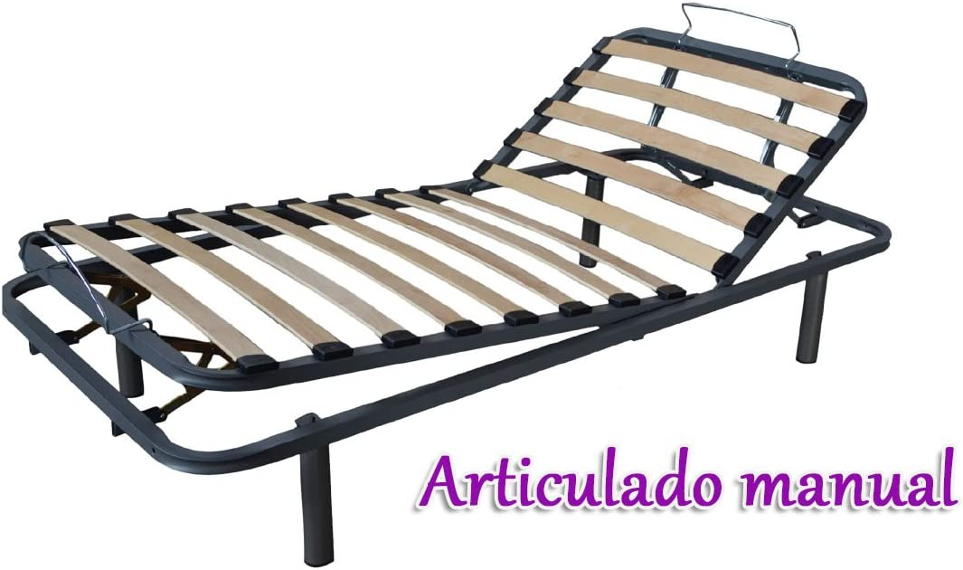 GrupoDiper - Somier Articulado Manual 105X180: Amazon.es ...