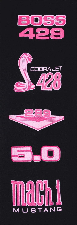 JH DESIGN GROUP Womens Ford Mustang Classic Pony Logo Hoodie Black Zip Up Sweatshirt
