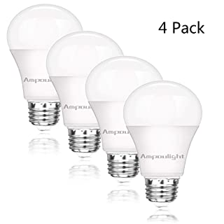 LED Light Bulb 100W Equivalent, A19 Warm White 3000K 1600LM Non-Dimmable E26 Medium Screw Base 15W Light Bulb (4 Pack) by Ampoulight
