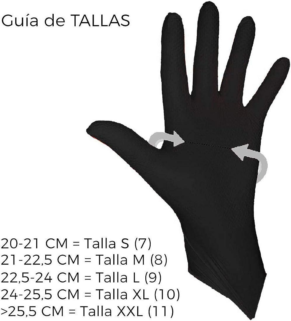 REUTILIZABLES Talla M RZ TOOLS Guantes de NITRILO Diamantado NEGROS SIN L/ÁTEX M/ás RESISTENTES